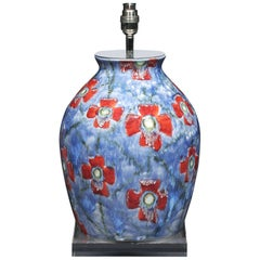 Lamp Table Cobridge Poppy and Ice Wildflower Vase Blue Red Green White