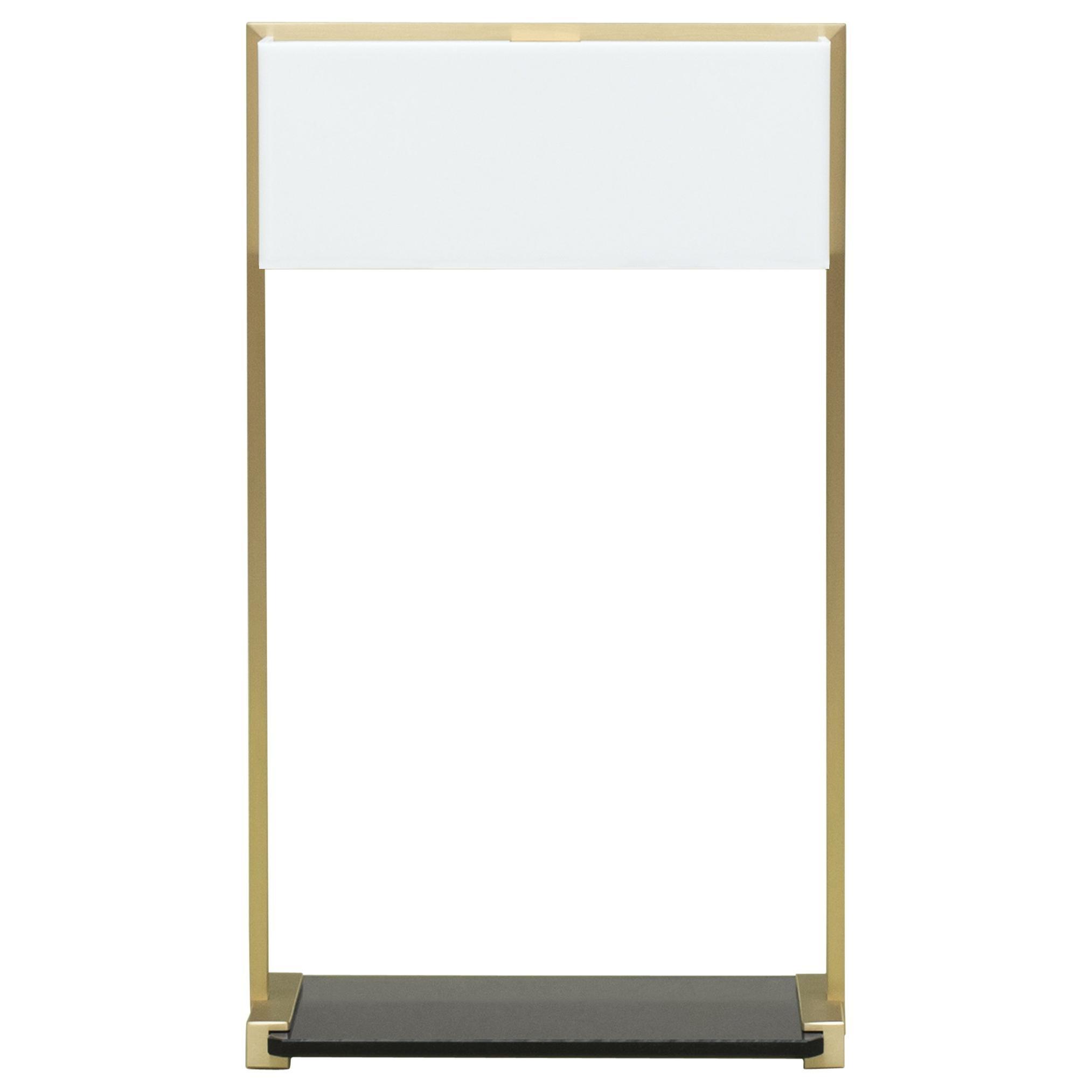21st Century Minimalist Brass & Tinted Glass Tom MW10 Table Lamp