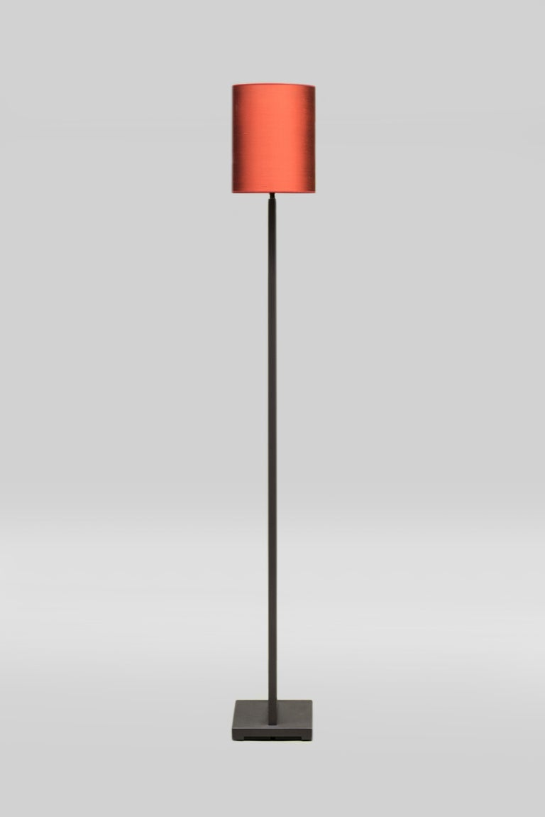 Classical Roman GHYCZY Lamp Tom MW24, Ristretto Frame, Lampshade Silk Red, Floor Lamp  For Sale