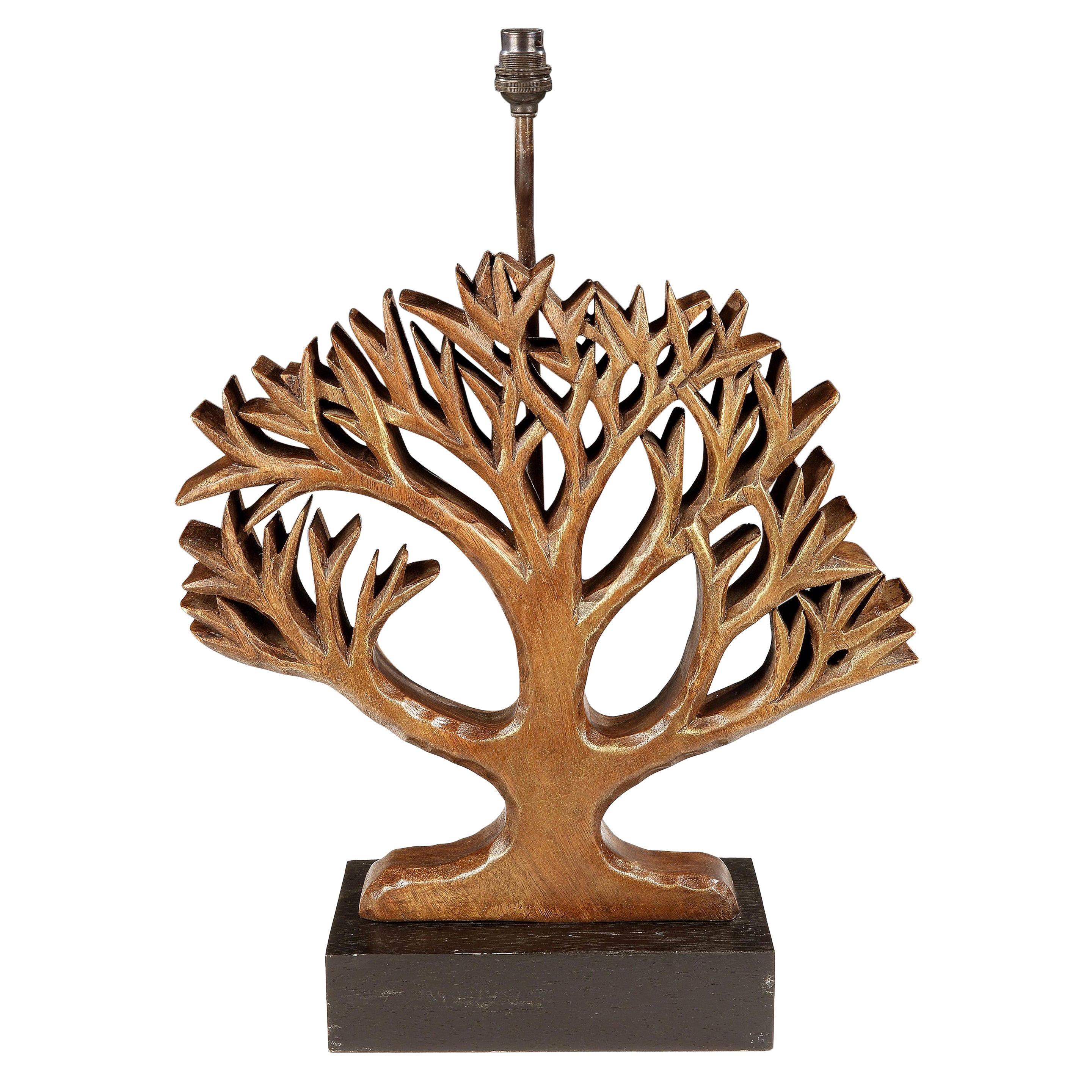 Lamp, Vintage, Tree, Arbre, Carving, Style of Diego Giacometti, Gilded