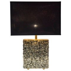 Lamp with Pyrites Stones by Georges Mathias