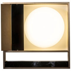 Lampada 13 Wall Sconce in Brass and Marble by Hagit Pincovici