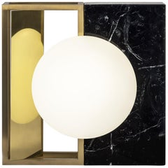 Lampada 18 Table Lamp in Brass and Marble, Made in Italy
