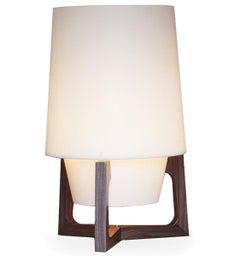 Lampada Designer Floor Light in Walnut Made in Italy Small Light