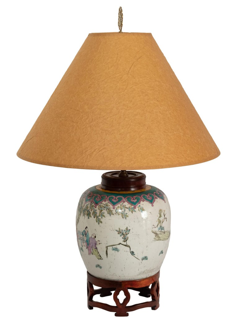 Lamped 19th Century Qing Vase For Sale 1
