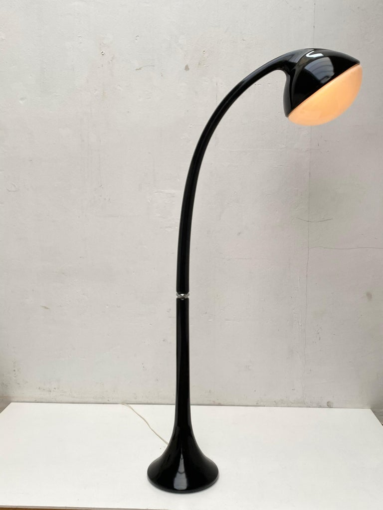 Italian 'Lampione' Floor Lamp by Fabio Lenci for DH Guzzini, Italy, 1968, Original Label For Sale