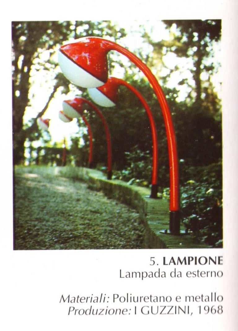 'Lampione' Floor Lamp by Fabio Lenci for DH Guzzini, Italy, 1968, Original Label In Good Condition For Sale In bergen op zoom, NL