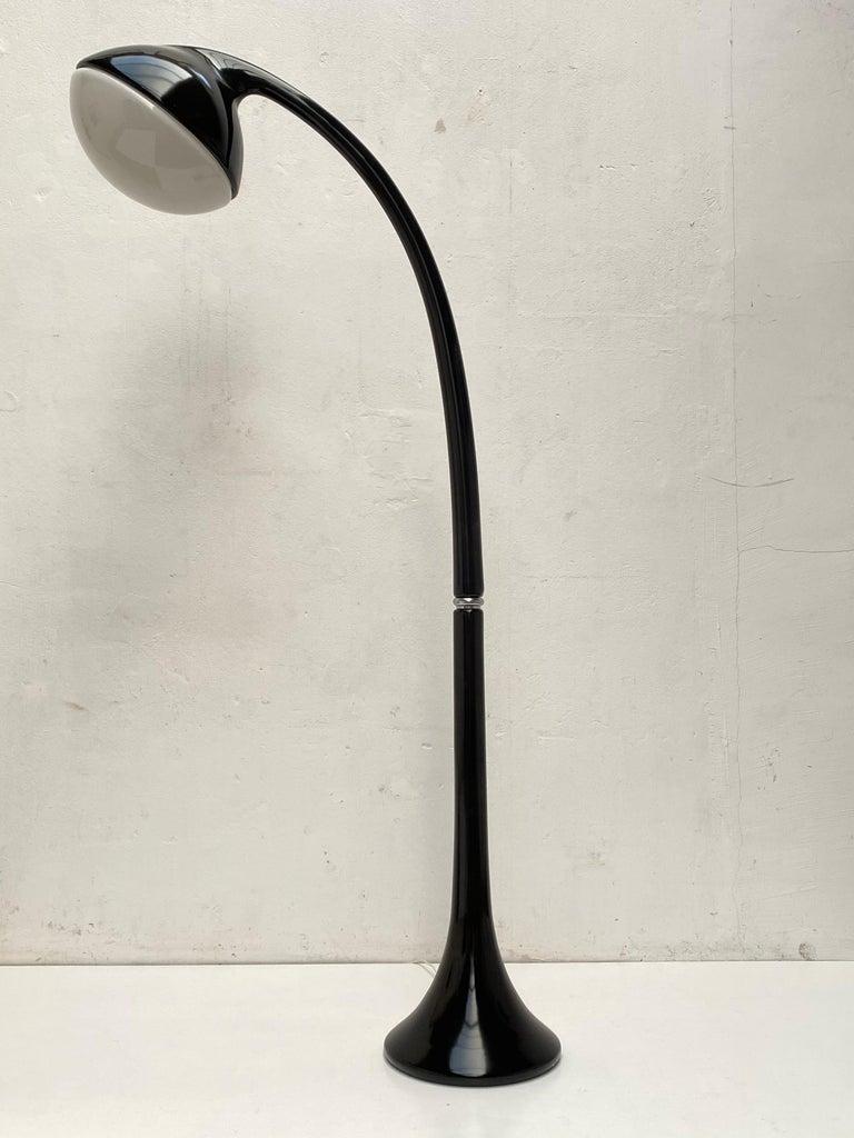 Resin 'Lampione' Floor Lamp by Fabio Lenci for DH Guzzini, Italy, 1968, Original Label For Sale