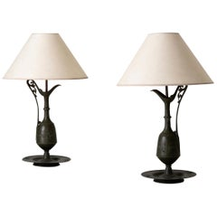 Lamps Table Neoclassical Style Metal France