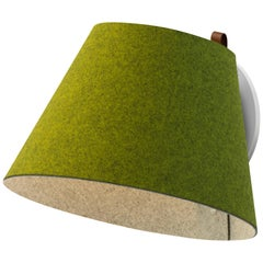 Lana Large Wall Light in Moss & Grey by Pablo Designs