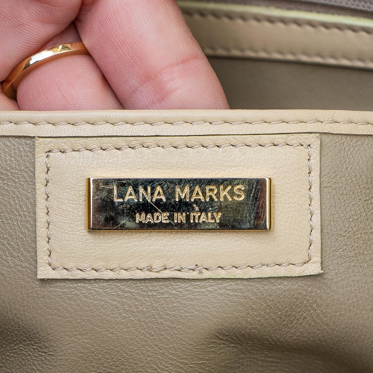 Lana Marks Tan Crocodile Handbag For Sale 2