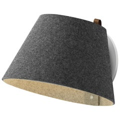 Lana Small Wall Light in Charcoal and Grey by Pablo Designs