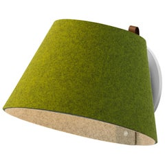 Lana Small Wall Light in Moss and Grey by Pablo Designs
