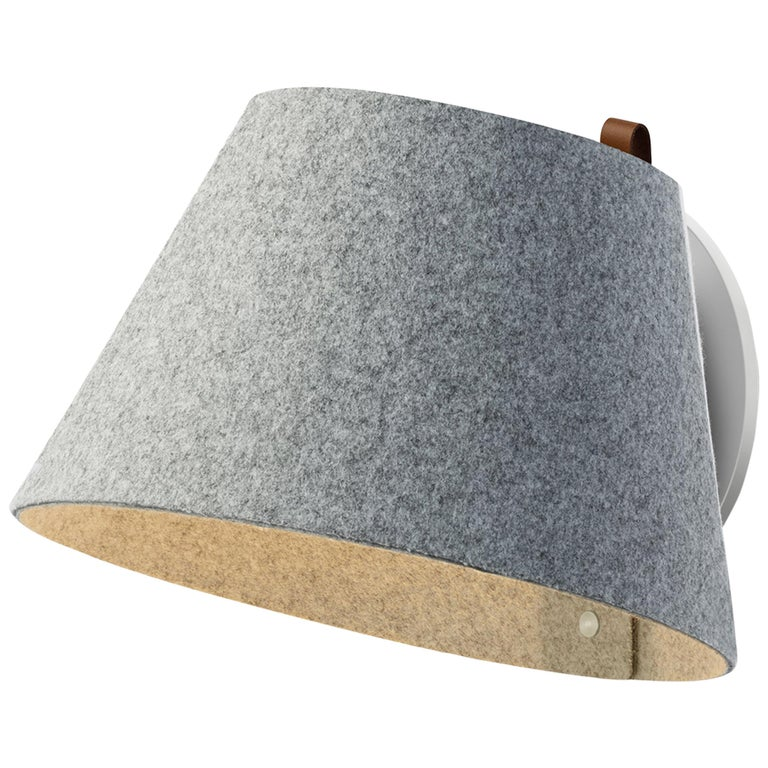 Lana Small Wall Light in Stone & Grey by Pablo Designs For Sale