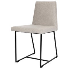 Lana Steel and light gray wool upholstery Chair