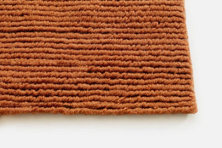 Lanagrossa, Modern Rug, in Pure Wool in Ivory Orange Hues, by Deanna Comellini In New Condition For Sale In Bologna, IT