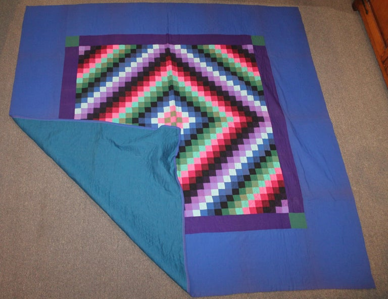 Wool Lancaster County, Pennsylvania Sunshine Shadow Quilt For Sale