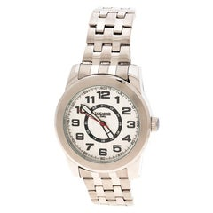 Lancaster Silver White Stainless Steel NPU Sportif Men's Wristwatch 44 mm