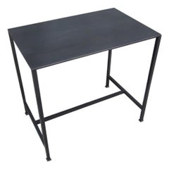 Lance Thompson 'Evander' Table, Hand Blackened Steel Table Forged Square Feet. M