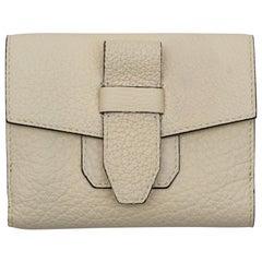 Lancel Beige Leather Wallet