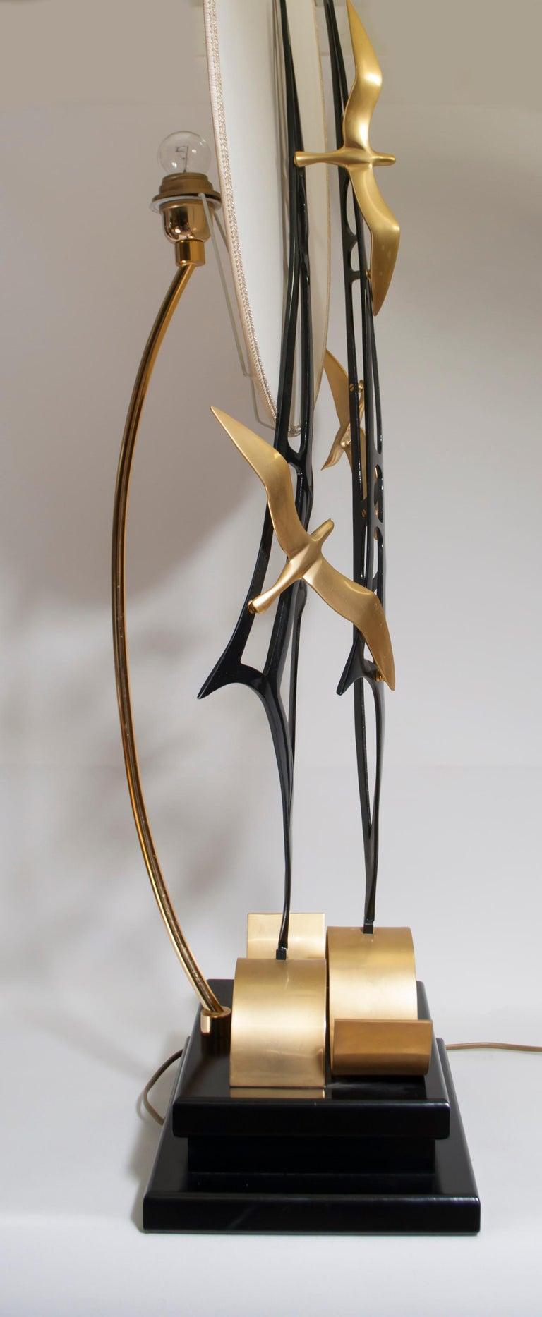 Lanciotto Galeotti Midcentury Gold-Plated Lamp Italian by L'Originale, 1970s 4