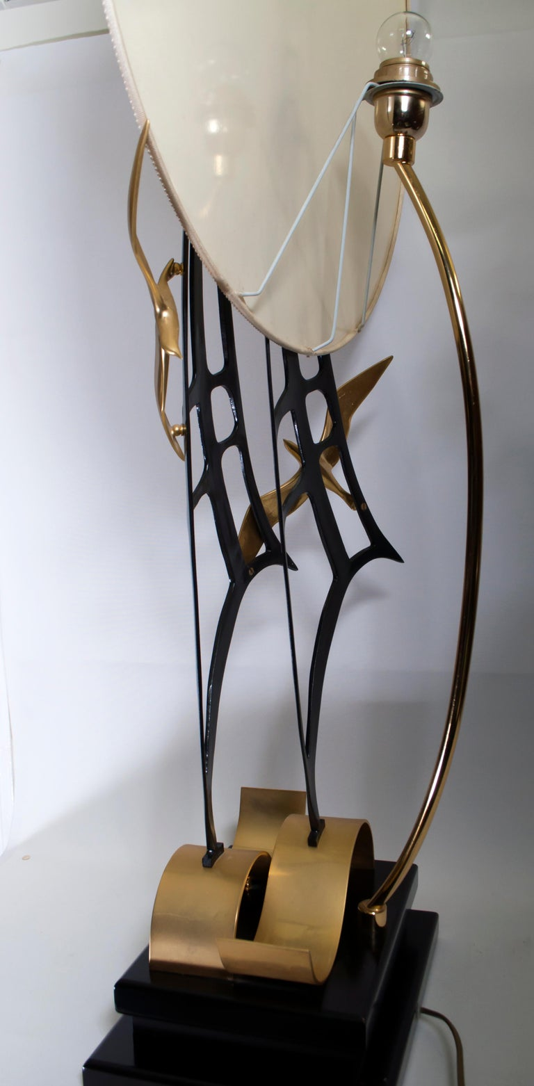 Lanciotto Galeotti Midcentury Gold-Plated Lamp Italian by L'Originale, 1970s 5