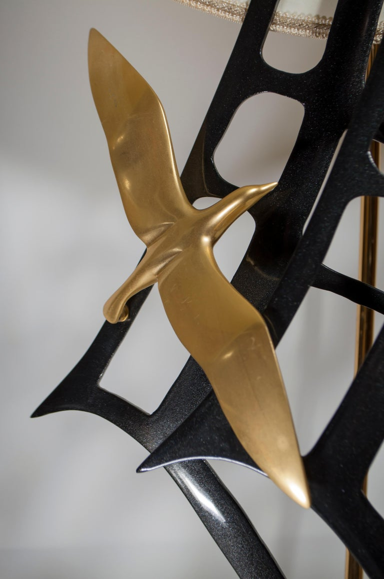 Lanciotto Galeotti Midcentury Gold-Plated Lamp Italian by L'Originale, 1970s 6