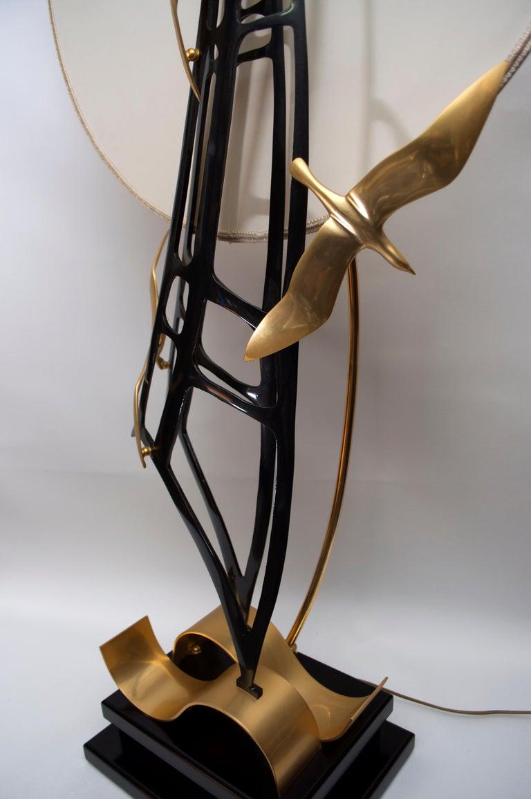 Lanciotto Galeotti Midcentury Gold-Plated Lamp Italian by L'Originale, 1970s In Good Condition In Cerignola, Italy Puglia