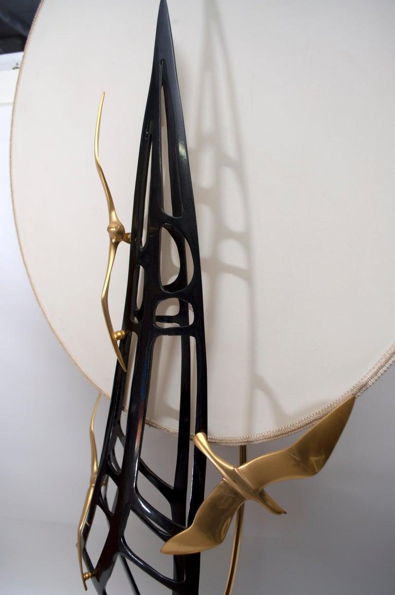 Late 20th Century Lanciotto Galeotti Midcentury Gold-Plated Lamp Italian by L'Originale, 1970s