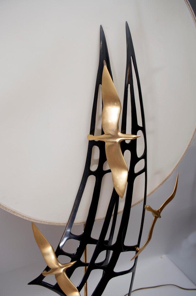 Metal Lanciotto Galeotti Midcentury Gold-Plated Lamp Italian by L'Originale, 1970s