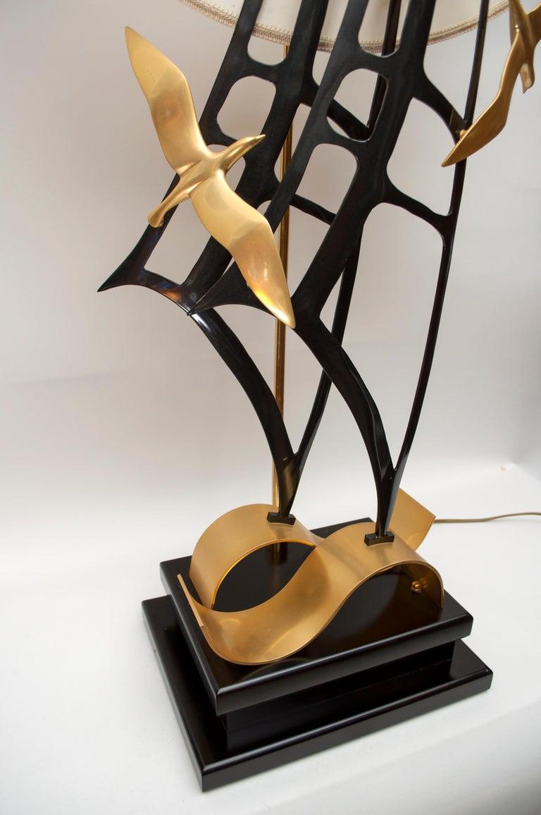 Lanciotto Galeotti Midcentury Gold-Plated Lamp Italian by L'Originale, 1970s 1