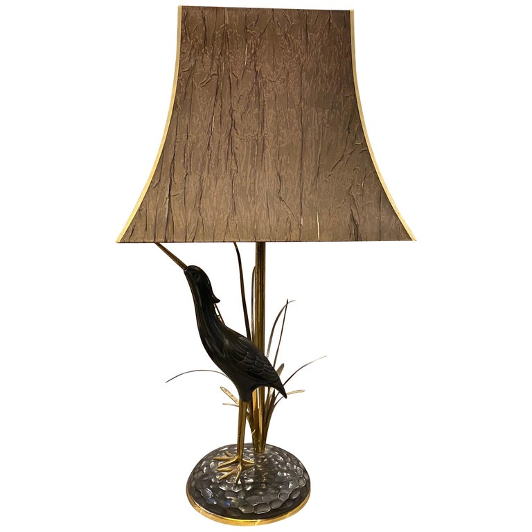 Lanciotto Galeotti Mid-Century Modern Brass Italian Table Lamp, circa 1950 For Sale
