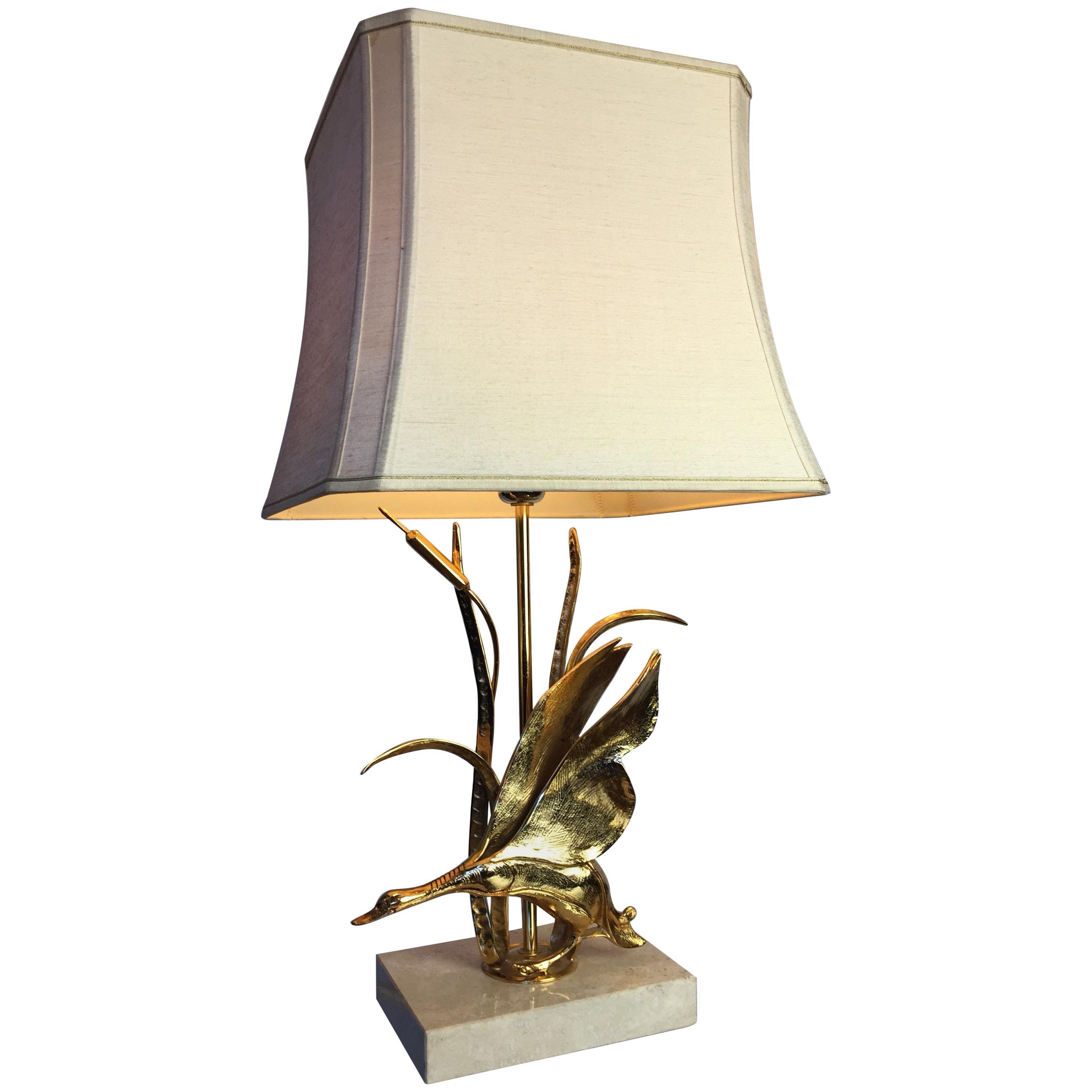 Brass Bird Table Lamp by Lanciotto Galeotti for L' Originale, Italy, 1970s