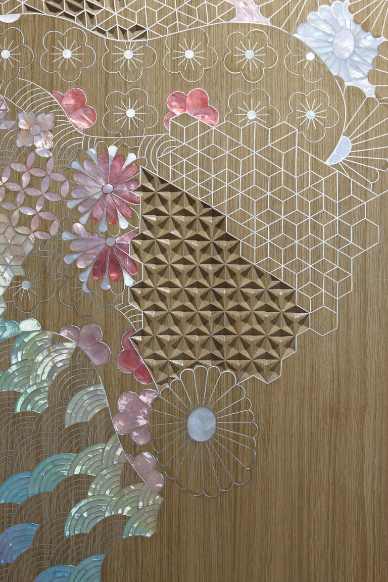 Lebanese Land of the Rising Sun - Cabinet inspiration by contemporary Japanese aesthetics For Sale