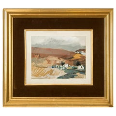 """Landscape"", 1972, Watercolor, Signed and Dated, Martínez Novillo, Cirilo"