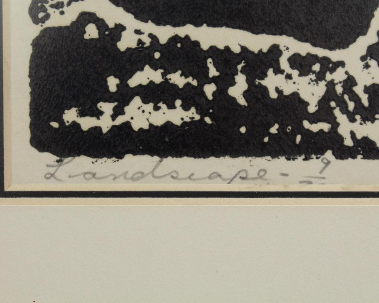 Landscape, a Mid-Century Modern Lithographic Print on Paper by Stanley Lewis For Sale 4