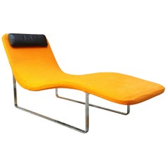 Landscape Chaise Lounge by Jeffrey Bernett for B&B Italia Orange Fabric, 1999