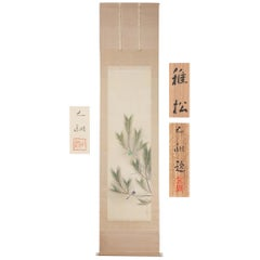 Landscape Flower Bird Scene Taisho Period Scroll Japan Artist