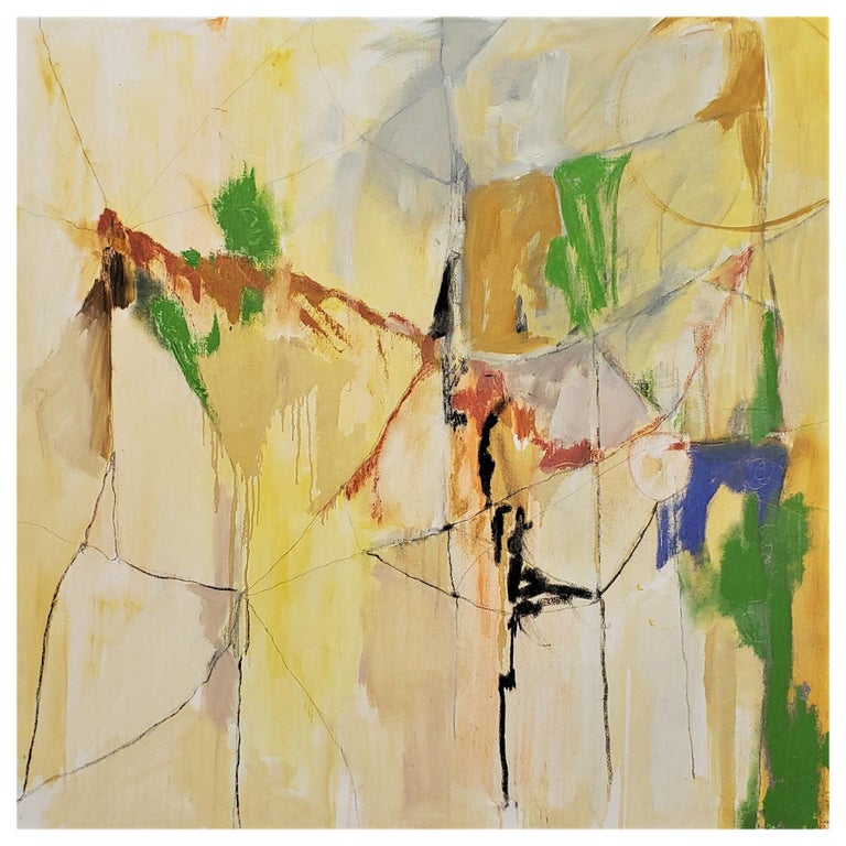 """""""Landscape From An Airplane,"""" 2021 Abstract Painting by Kathi Robinson Frank For Sale"""
