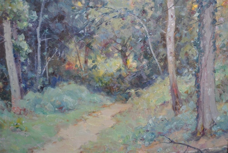 French Landscape of the Ariege by Albert Regagnon Oil on Canvas For Sale
