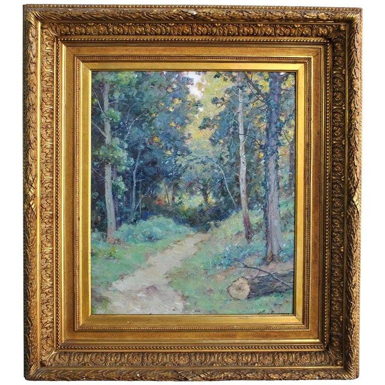 Landscape of the Ariege by Albert Regagnon Oil on Canvas For Sale
