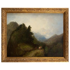 Landscape, Oil on Canvas, English School, 18th Century