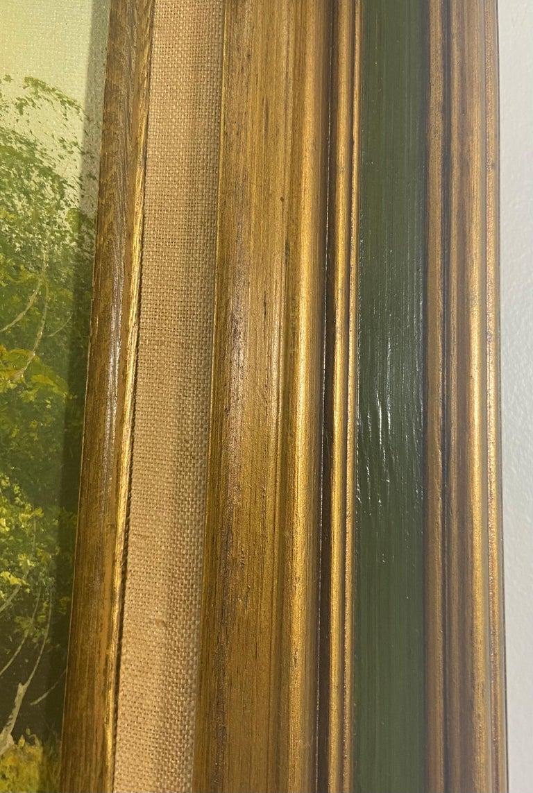 Landscape Oil on Canvas Framed Painting Signed Artist Bowen For Sale 7