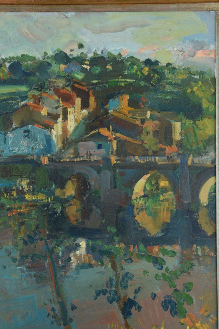 Spanish Landscape, Oil on Canvas, Signed, Grau Santos, Julián 'Spain, 1937-' For Sale