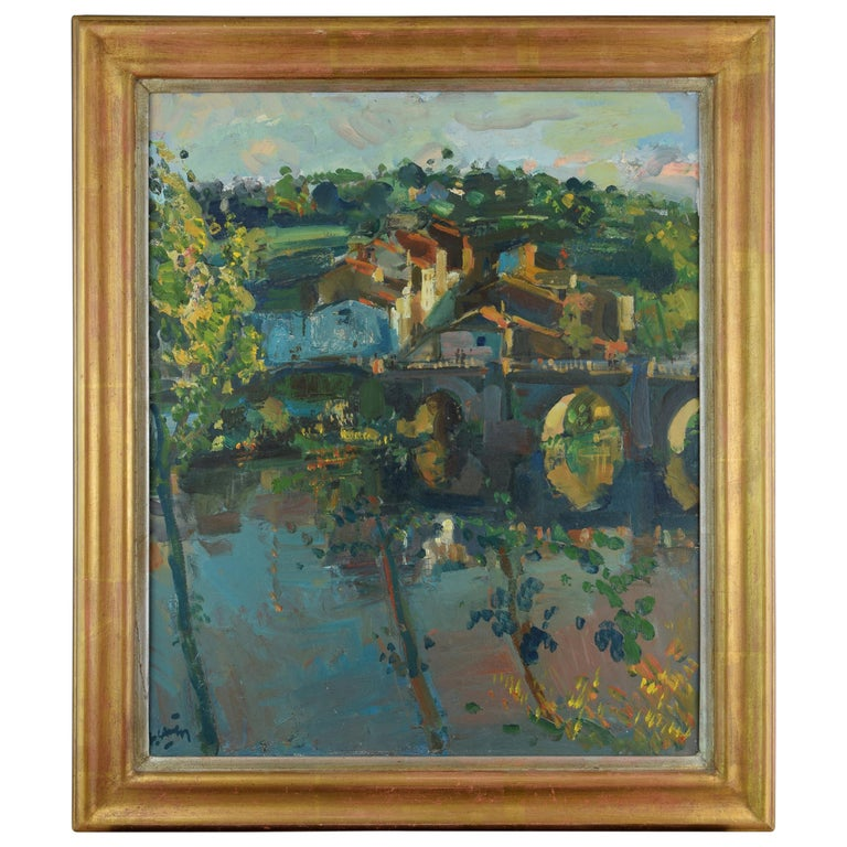 Landscape, Oil on Canvas, Signed, Grau Santos, Julián 'Spain, 1937-' For Sale