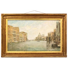 Landscape Oil Painting of Italian City Venice by Reginald Grenville Eves
