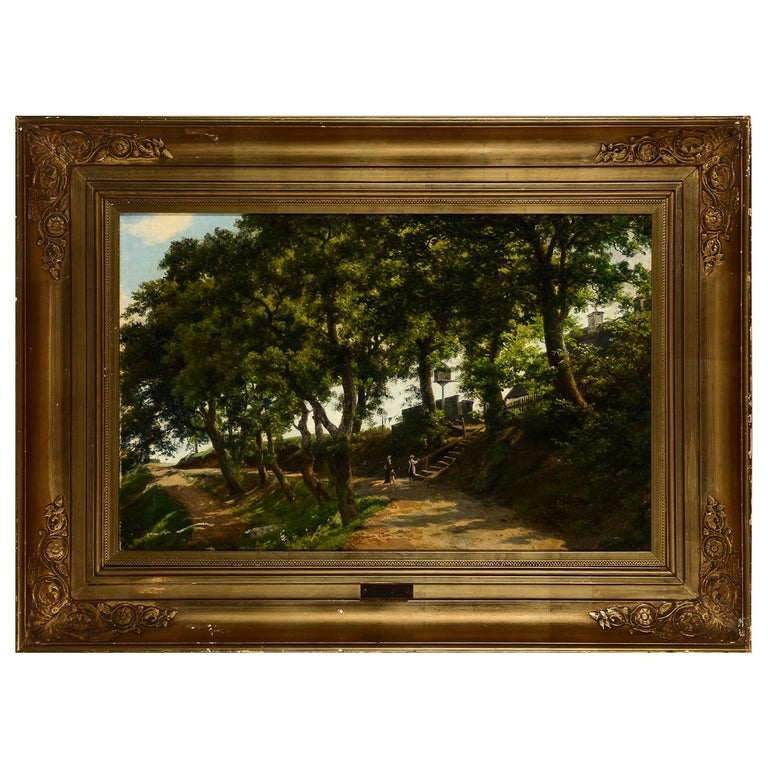Landscape Painting by Axel Schovelin For Sale