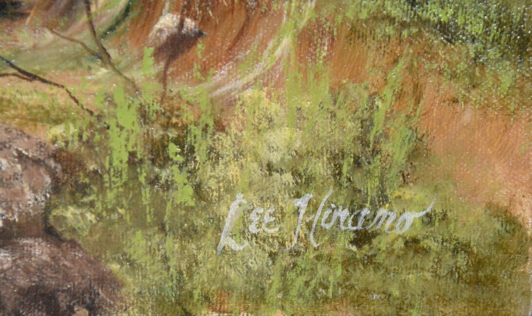 Hand-Painted Landscape Paintings by Nora Alleda Hirano For Sale
