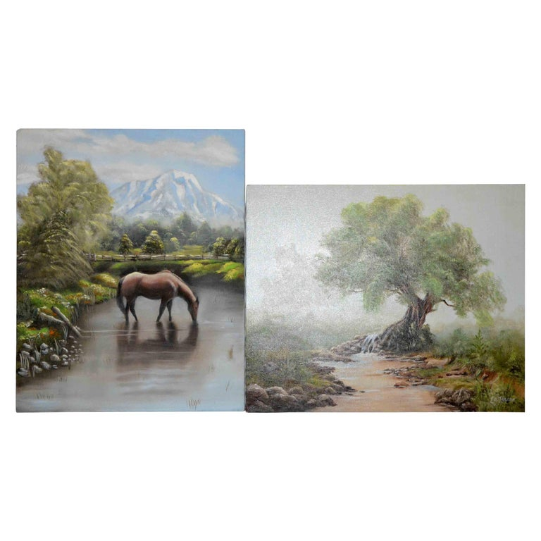 Landscape Paintings by Nora Alleda Hirano For Sale