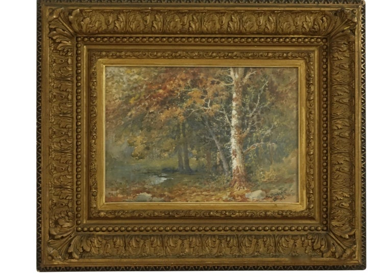 Landscape Watercolor Painting Signed L Douglas, American, Early 20th Century For Sale 5